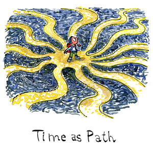 Time as path illustration by Frits Ahlefeldt