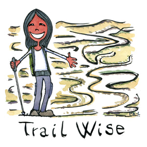 Trail wise girl illustration by Frits Ahlefeldt