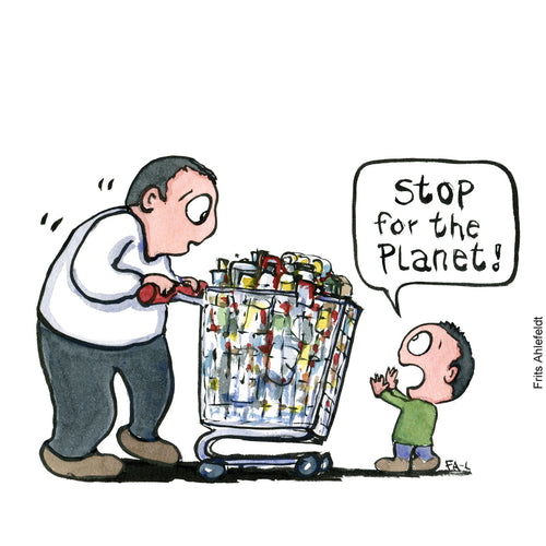 Di00488 Stop for the planet kid illustration