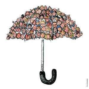 Community umbrella illustration by Frits Ahlefeldt