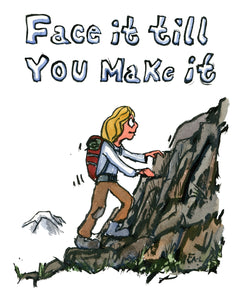 Face it till you make it, the illustration by Frits Ahlefeldt