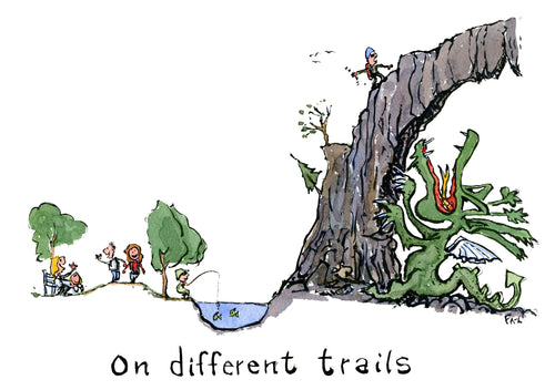 On different trails illustration by Frits Ahlefeldt