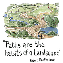 Load image into Gallery viewer, Path are the habits of a landscape illustration by Frits Ahlefeldt