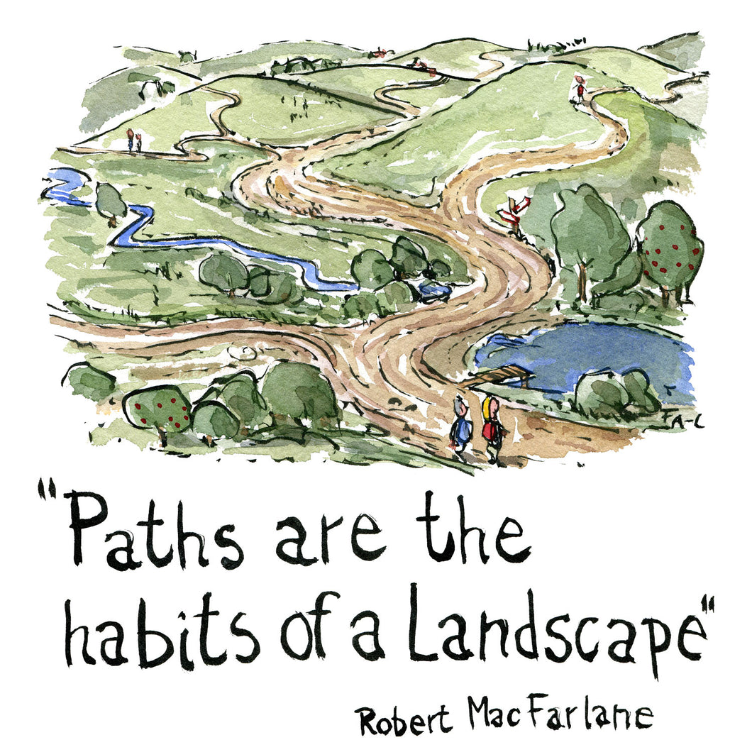 Path are the habits of a landscape illustration by Frits Ahlefeldt
