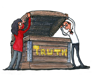 The Truth box illustration by Frits Ahlefeldt