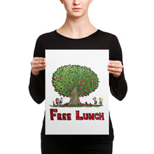 Load image into Gallery viewer, The Free Lunch Tree illustration Canvas print