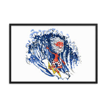 Load image into Gallery viewer, The Old Surfer illustration Framed art print