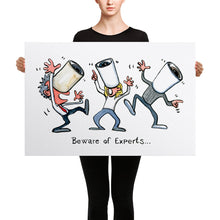 Load image into Gallery viewer, The Beware of Experts illustration Canvas print