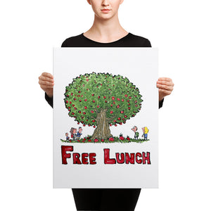 The Free Lunch Tree illustration Canvas print