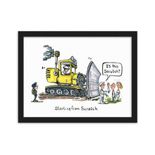 Load image into Gallery viewer, Starting from Scratch illustration Framed art print