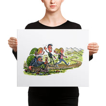 Load image into Gallery viewer, Meeting yourself on the trail Canvas print