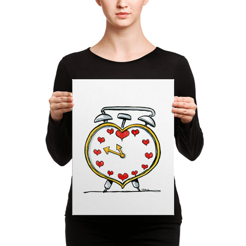 Love Alarm clock Canvas print