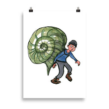 Load image into Gallery viewer, The Snail Hiker illustration Art print
