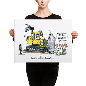Starting from Scratch illustration Canvas print