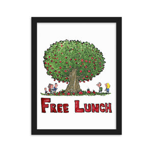 The Free Lunch illustration Framed Art Print