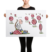 Load image into Gallery viewer, Arrow man looking at many targets Canvas print
