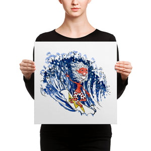 Old Surfer illustration Canvas print
