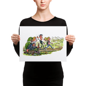 Meeting yourself on the trail Canvas print