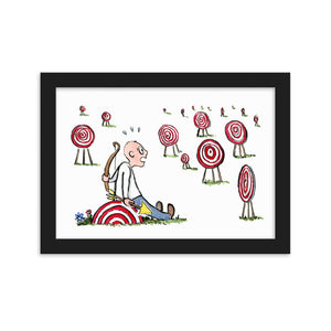 Arrow man many goals Framed art print
