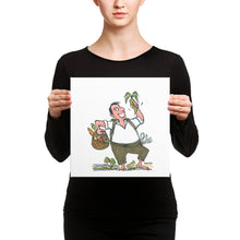 Load image into Gallery viewer, Man eating vegetables Canvas Print