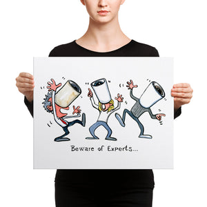 The Beware of Experts illustration Canvas print