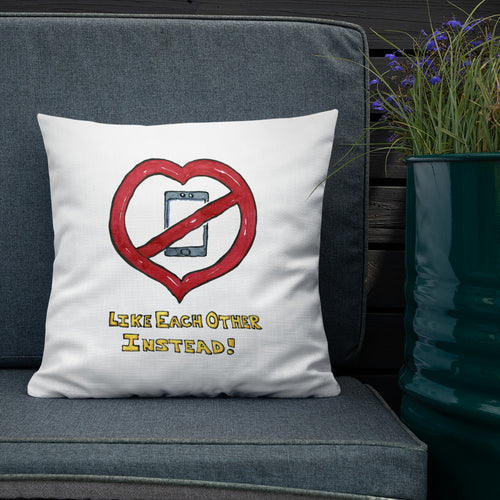 Heart Like Each Other Instead Premium Pillow