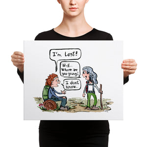 Lost Hiker Girl Canvas Print