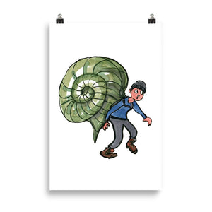 The Snail Hiker illustration Art print