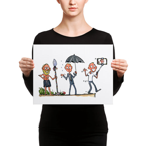 Evolution of modern man illustration Canvas Print