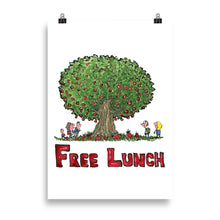 Load image into Gallery viewer, The Free Lunch tree illustration Art print
