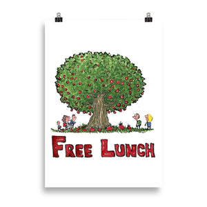 The Free Lunch tree illustration Art print