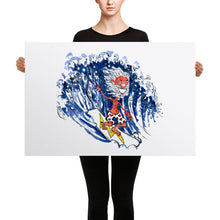 Load image into Gallery viewer, Old Surfer illustration Canvas print