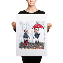 Load image into Gallery viewer, The Boots vs Umbrella illustration Canvas print