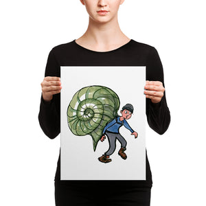 The Snail hiker illustration Canvas print