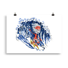 Load image into Gallery viewer, The Old Surfer illustration art print