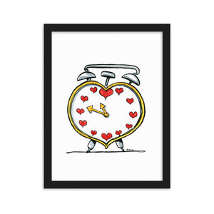 Heart alarm clock art print