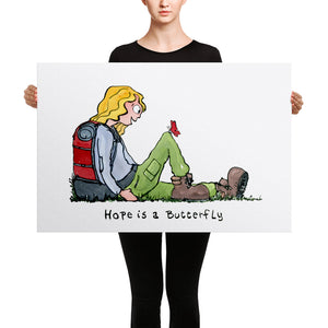 Hope is a butterfly Canvas print