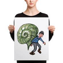 Load image into Gallery viewer, The Snail hiker illustration Canvas print