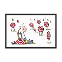 Load image into Gallery viewer, Arrow man many goals Framed art print