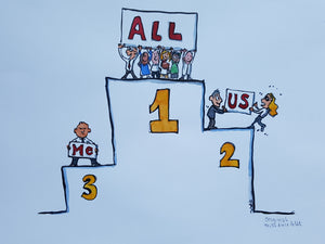 All-Us-me podium original illustration