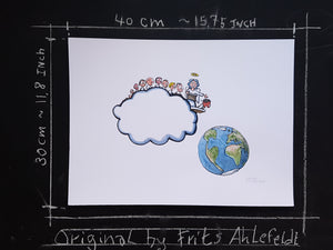 Baby cloud original illustration by Frits Ahlefeldt