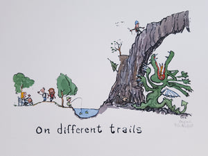 On different trails Original Illustration