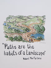 "Load image into Gallery viewer, Paths are the habits of a landscape"" quote Drawing by Frits Ahlefeldt"