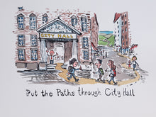Load image into Gallery viewer, Path through City Hall Original illustration