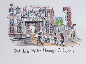 Path through City Hall Original illustration