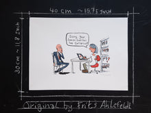 Load image into Gallery viewer, Man out of social capital original illustration by Frits Ahlefeldt