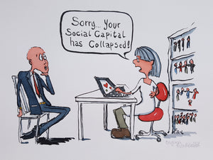 Out of Social Capital Original Illustration