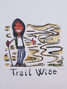 Trail Wise Girl Original Illustration