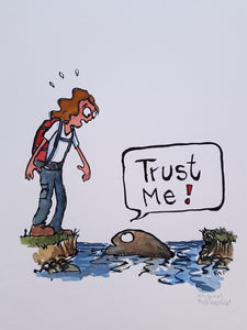 Trust a stone hiker Original illustration
