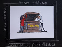 Load image into Gallery viewer, Drawing open the  truth box. Illustration by Frits Ahlefeldt